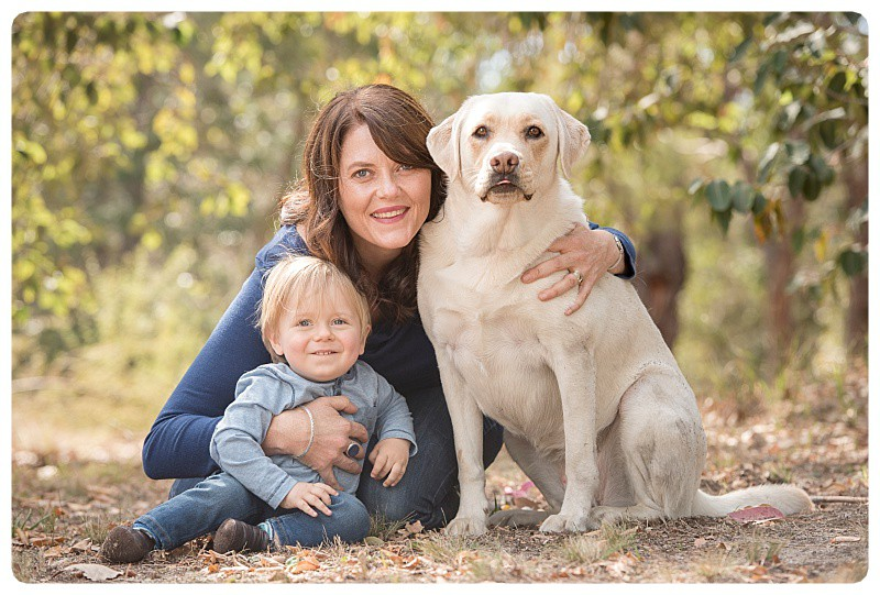 Mum and Son with Dog